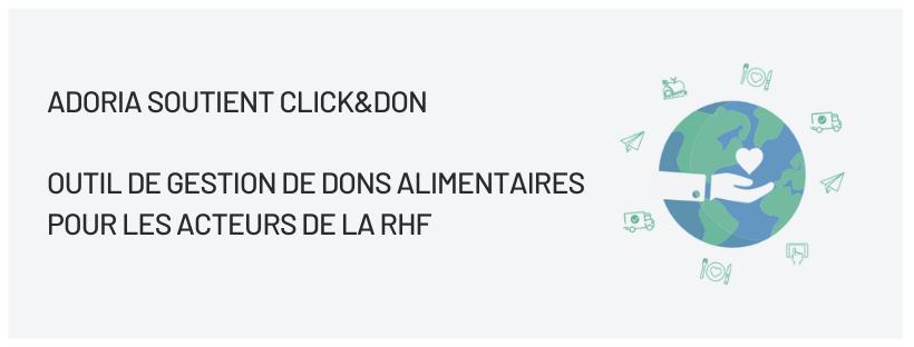 Adoria - [Communiqué de presse] Adoria officialise son partenariat avec Click&Don
