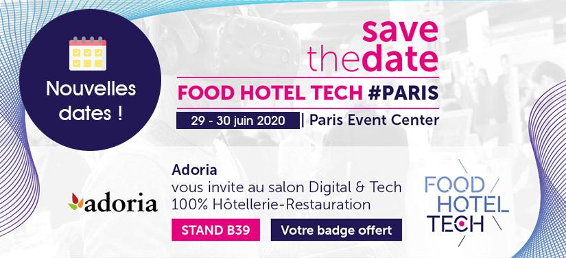 Adoria - Adoria participe au salon FHT  le salon Digital & Tech dédié aux professionnels de l'hôtellerie et...