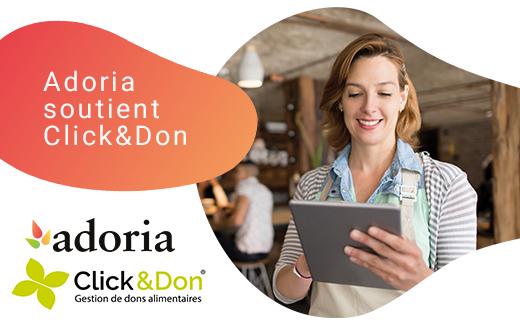 Adoria - Adoria renouvelle son partenariat avec Click & Don